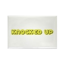 Knocked up (glowing) Rectangle Magnet