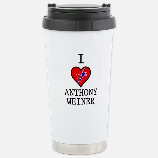 I Love Anthony Weiner Stainless Steel Travel Mug