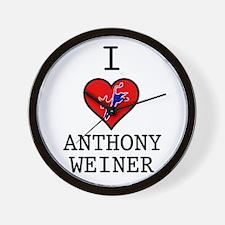I Love Anthony Weiner Wall Clock