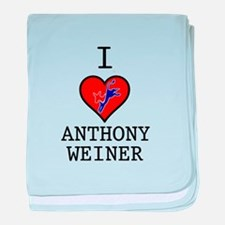I Love Anthony Weiner baby blanket