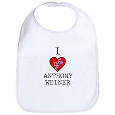 I Love Anthony Weiner Bib