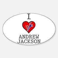 I Love Andrew Jackson Decal