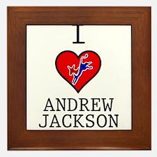I Love Andrew Jackson Framed Tile