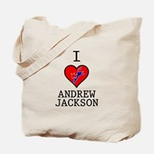 I Love Andrew Jackson Tote Bag