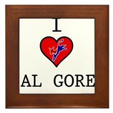 I Love Al Gore Framed Tile