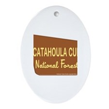 Catahoula Cur Ornament (Oval)