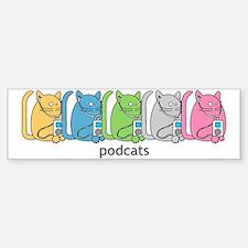 Podcats iPod Podcast Cat Humor Bumper Bumper Bumper Sticker