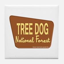 Tree Dog Tile Coaster