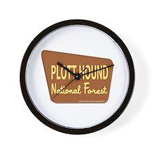 Plott Hound Wall Clock