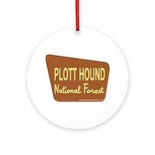 Plott Hound Ornament (Round)