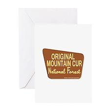Original Mountain Cur Greeting Card