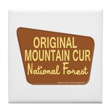 Original Mountain Cur Tile Coaster