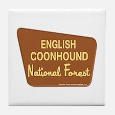 English Coonhound Tile Coaster