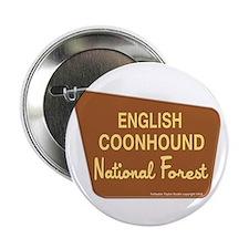 "English Coonhound 2.25"" Button"