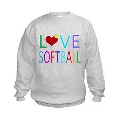 LOVE SOFTBALL Sweatshirt