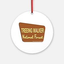 Treeing Walker Ornament (Round)