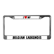 I Love My Belgian Laekenois License Plate Frame