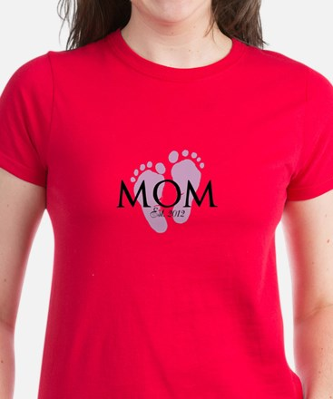 New Mom Customizable Year Women's Dark T-Shirt