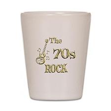 70s Rock Shot Glass