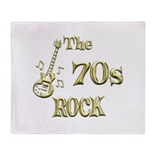 70s Rock Throw Blanket