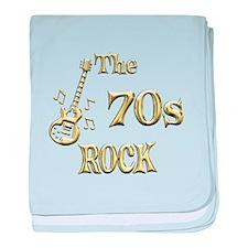 70s Rock baby blanket