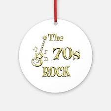 70s Rock Ornament (Round)