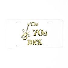 70s Rock Aluminum License Plate