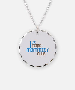 1st Time Mommies Club (Blue) Necklace