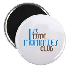 """1st Time Mommies Club (Blue) 2.25"""" Magnet (10 pack"""