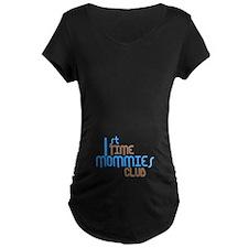 1st Time Mommies Club (Blue) T-Shirt
