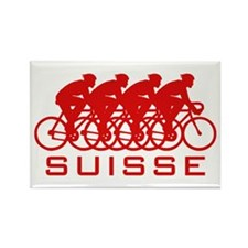 Suisse Cycling Rectangle Magnet