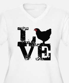 Love T Shirt, Chicken T Shirt Plus Size T-Shirt