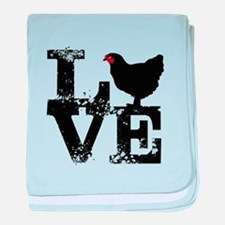 Love T Shirt, Chicken T Shirt baby blanket