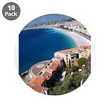 "Promenade des Anglais 3.5"" Button (10 pack)"