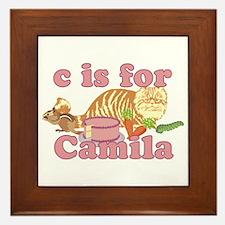 C is for Camila Framed Tile