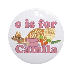 C is for Camila Ornament (Round)