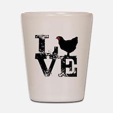Love T Shirt, Chicken T Shirt Shot Glass