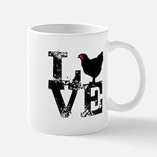 Love T Shirt, Chicken T Shirt Mugs