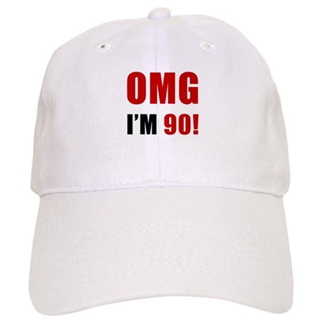 OMG 90th Birthday Cap