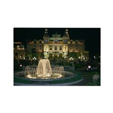 Monte Carlo Casino at Night Rectangle Magnet
