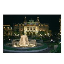 Monte Carlo Casino at Night Postcards (Package of