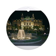 Monte Carlo Casino at Night Ornament (Round)