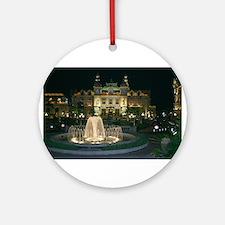 Monte Carlo Casino at Night Ornament (Round)