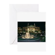 Monte Carlo Casino at Night Greeting Card