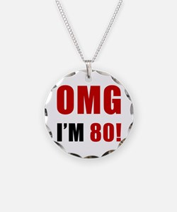 OMG 80th Birthday Necklace