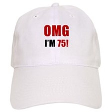 OMG 75th Birthday Baseball Cap