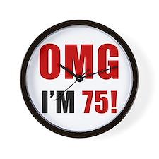 OMG 75th Birthday Wall Clock
