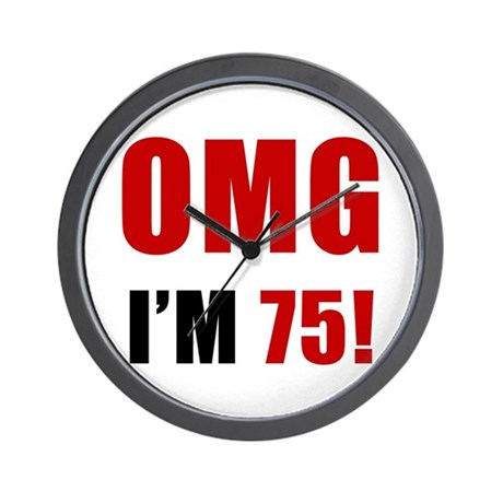 OMG 75th Birthday Wall Clock