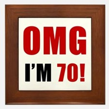 OMG 70th Birthday Framed Tile
