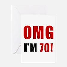 OMG 70th Birthday Greeting Card